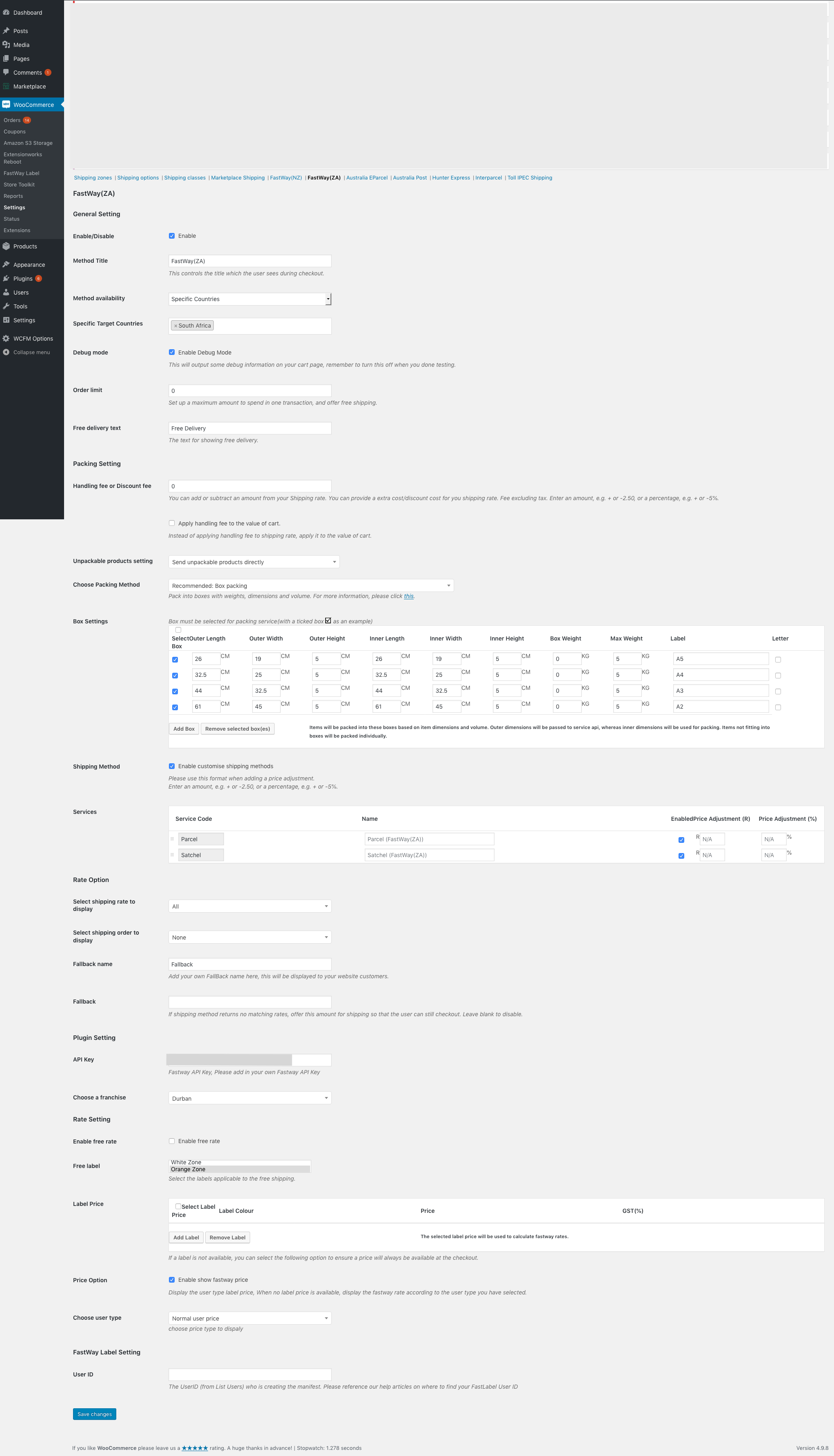 WooCommerce Fastway Shipping Plugin for South Africa